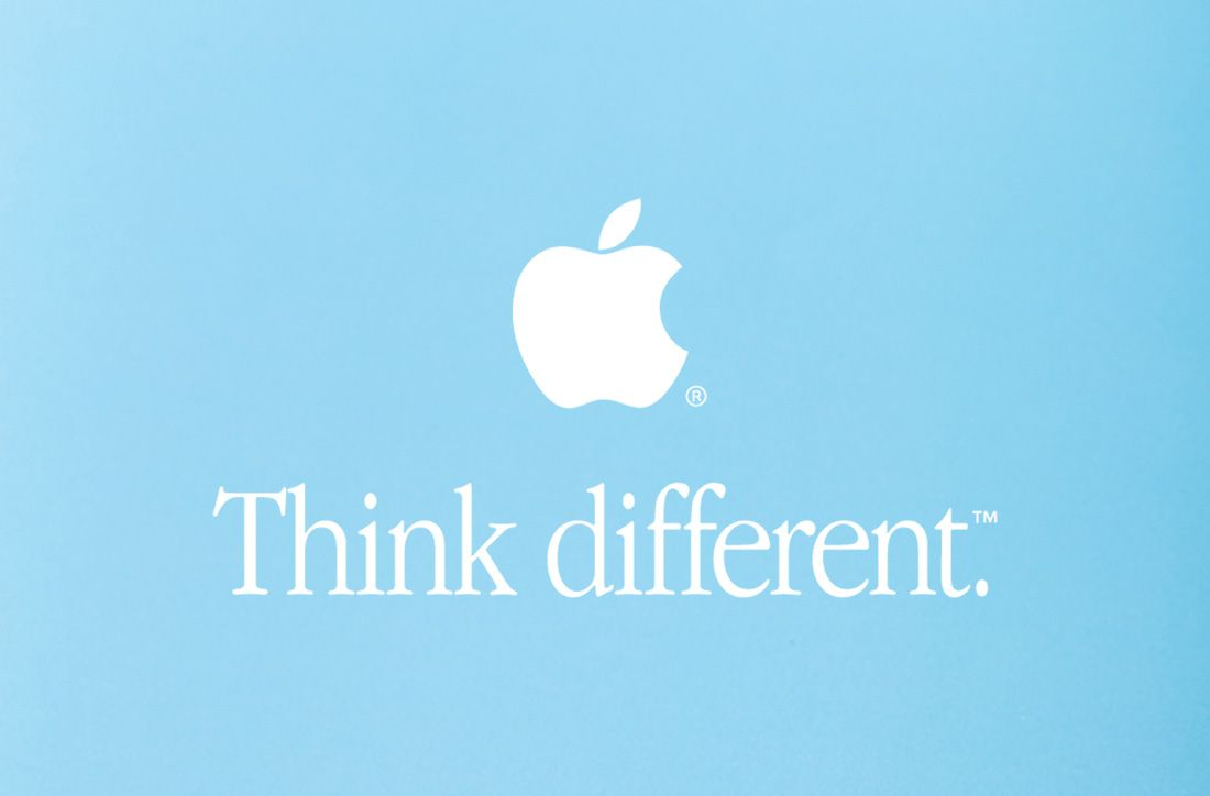 Apple - Think different.